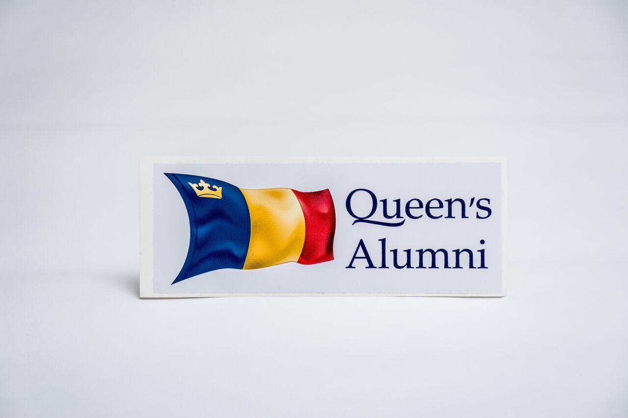 NEW! - Queen's Alumni Removable Bumper Sticker image