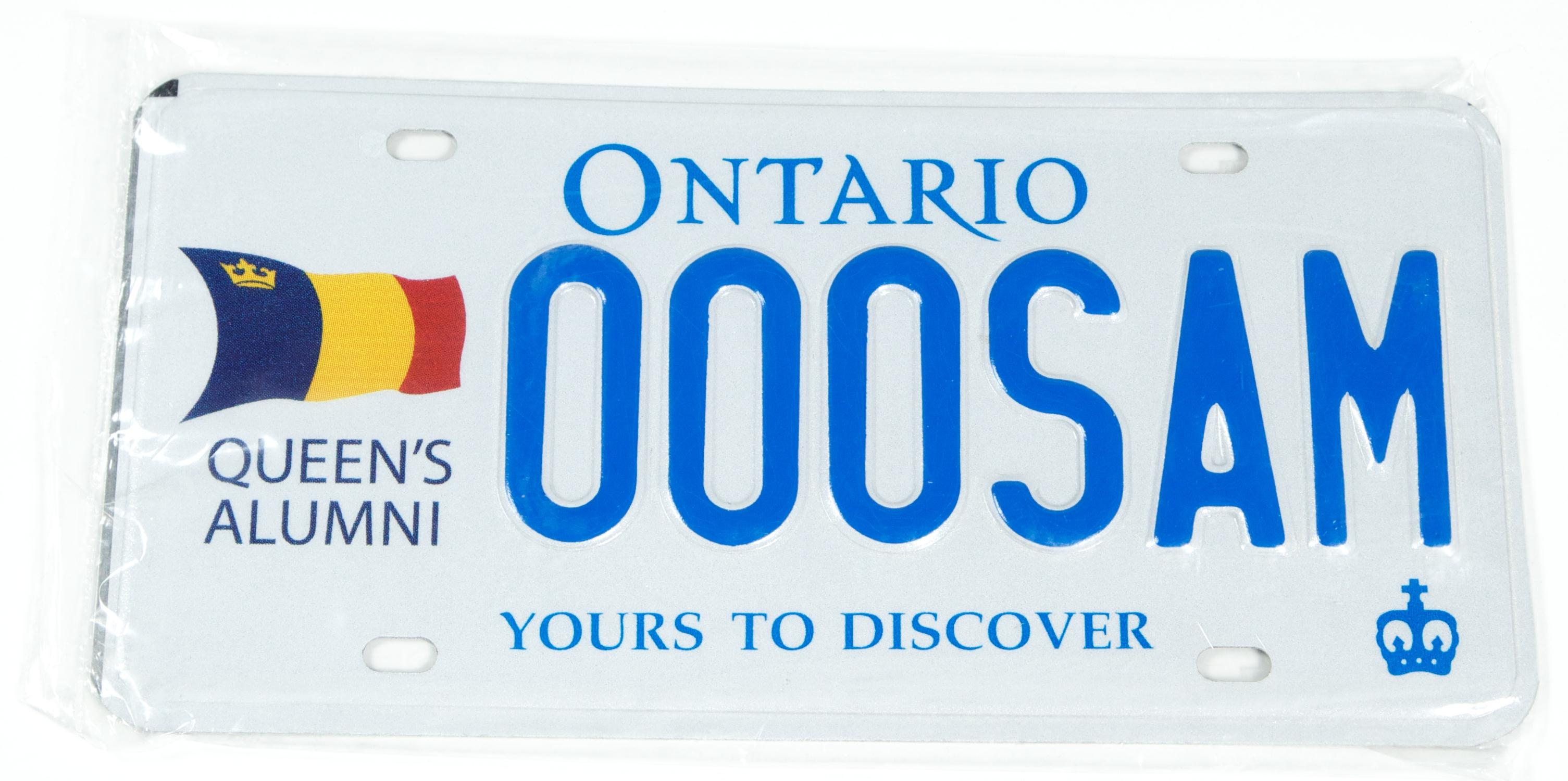 Queen's Alumni License Plate (Ontario Only) image