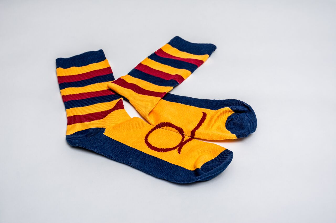Queen's Wide-Striped Tricolour Socks image